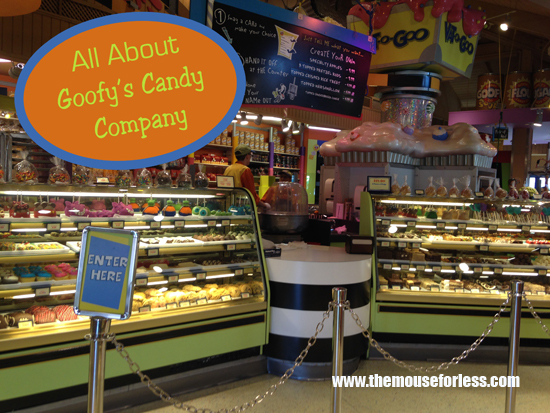 All about Goofy's Candy Company located in Disney Springs at Walt Disney World Resort #Sweets #CandyStore