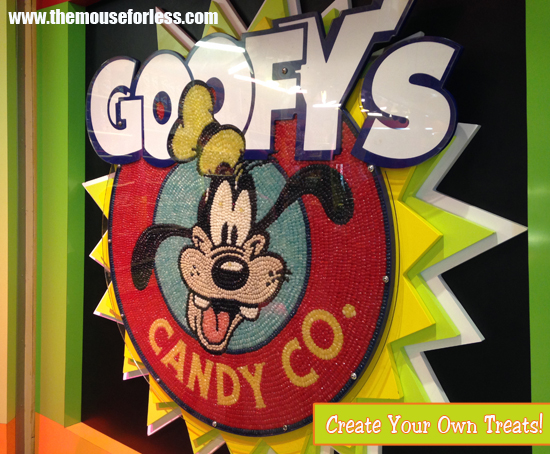 Create your own treats at Goofy's Candy Company located in Downtown Disney at Walt Disney World Resort #Sweets #CandyStore