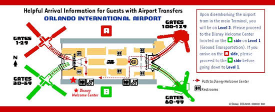 Magical Express Service Orlando Airport Map