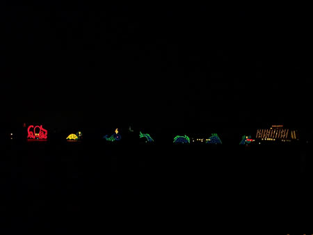 Electrical Water Pagent from the beach of Polynesian Resort