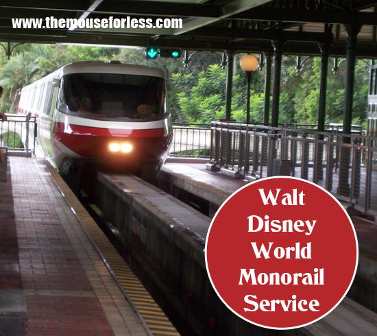 Walt Disney World Monorail Service - Getting Around the Walt Disney World Resort
