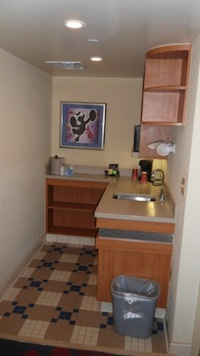Kitchenette in the Family Suites at Disney's All Star Music Resort
