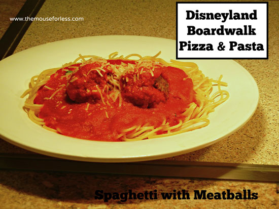 Spaghetti with Meatballs from Boardwalk Pizza & Pasta Restaurant at Disney's California Adventure