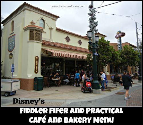 Fiddler Fifer and Practical Café and Bakery Starbucks Menu