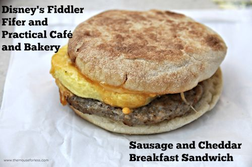 Fiddler sausage and cheddar sandwich
