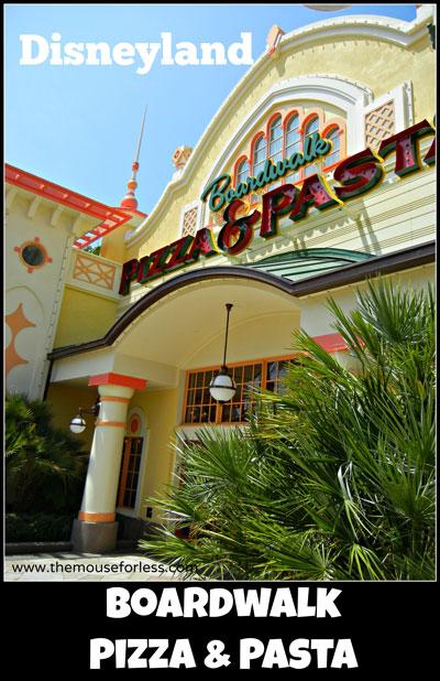 Boardwalk Pizza & Pasta Menu at Disney's California Adventure