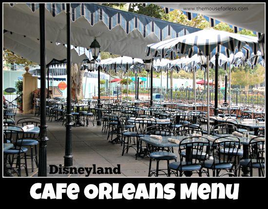 Cafe Orleans Menu