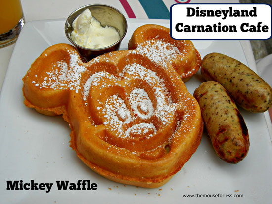 Mickey Waffe from Carnation Cafe at Disneyland Park