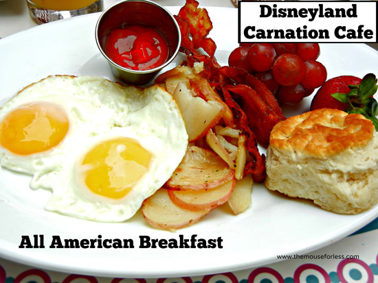 All American Breakfast from Carnation Cafe at Disneyland Park