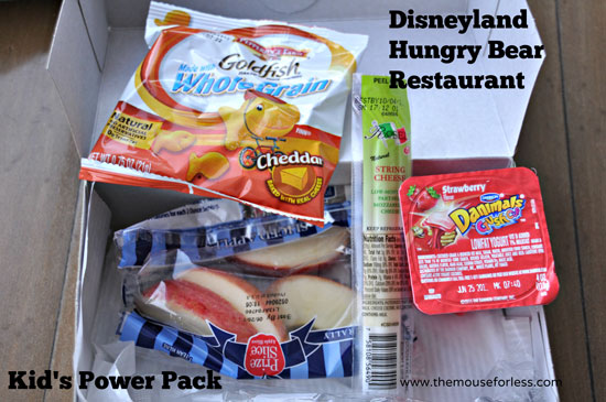 Kid's POWER Pack from Hungry Bear Restaurant at Disneyland Park