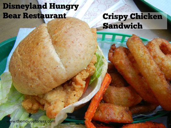 Crispy Chicken Sandwich from Hungry Bear Restaurant at Disneyland Park