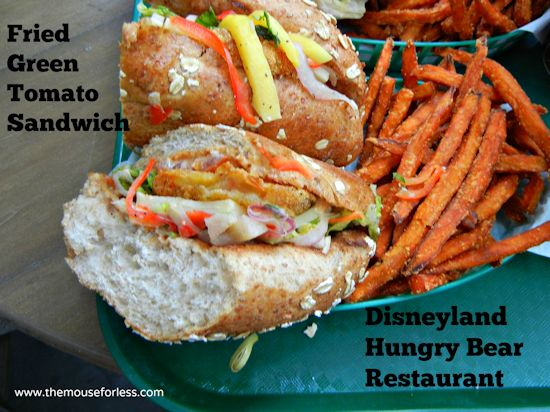 Fried Green Tomato Sandwich from Hungry Bear Restaurant at Disneyland Park