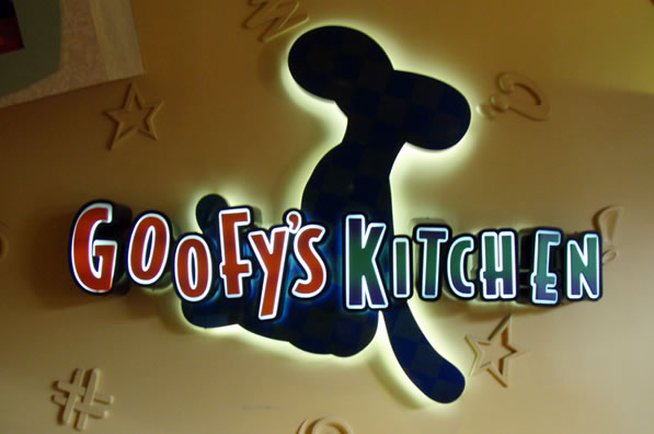 Goofy's Kitchen Menu