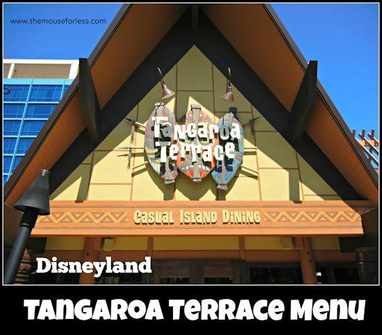 Tangaroa Terrace Menu