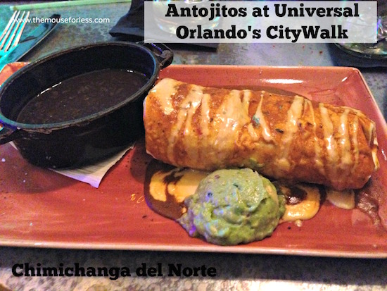 Chimichanga at Antojitos Authentic Mexican Restaurant at Universal CityWalk #UniversalDining #CityWalk #UniversalOrlando