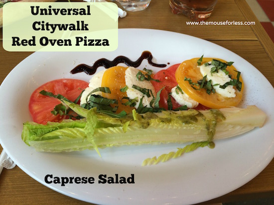 Caprese Salad at Red Oven Pizza Bakery at Universal CityWalk #UniversalDining #CityWalk #UniversalOrlando