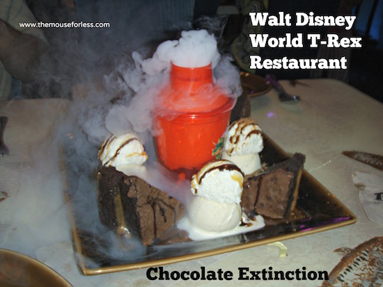 Chocolate Extinction at T-Rex Restaurant at Disney Springs Marketplace #DisneyDining #DisneySprings