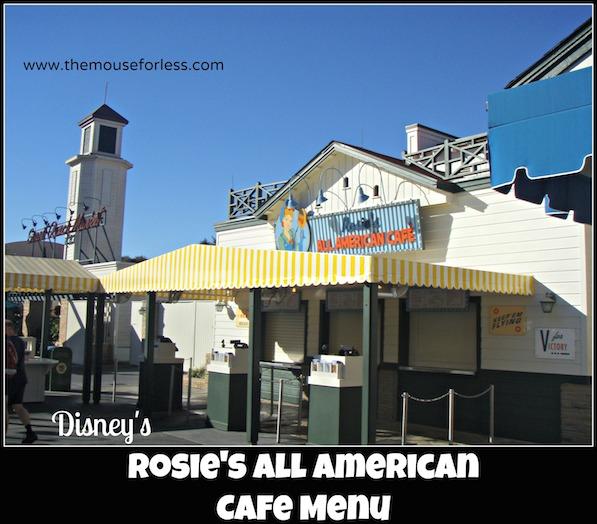 Rosie's All American Cafe Menu