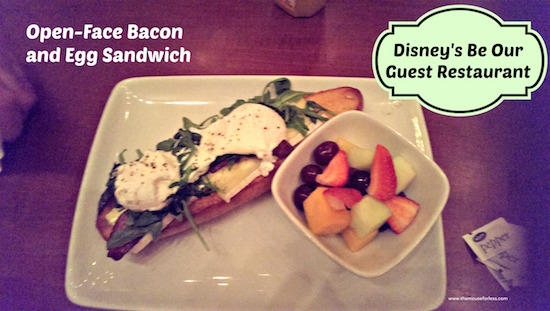 Open-Face Bacon and Egg Sandwich - Poached Eggs, Applewood Bacon, Brie ...