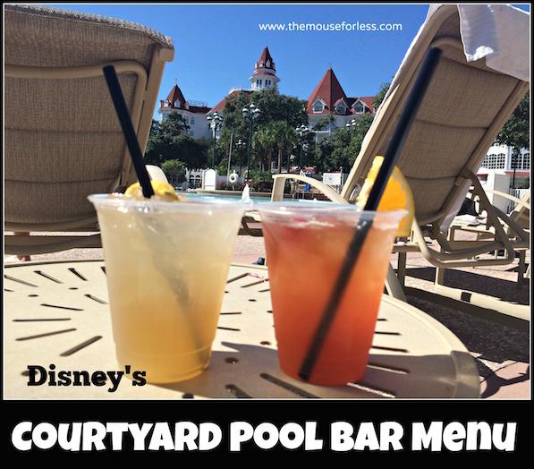 Courtyard Pool Bar Menu at the Grand Floridian Resort #DisneyDining #GrandFloridian