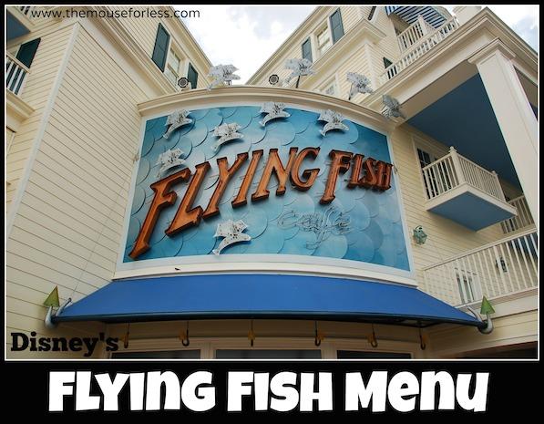 Flying fish cafe menu for The flying fish menu