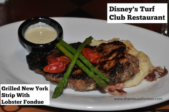 Turf Club Grilled New York Strip at Disney's Saratoga Springs Resort & Spa #DisneyDining #SaratogaSpringsResort