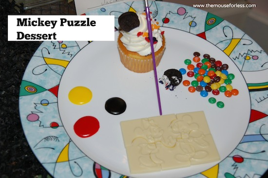 Mickey Puzzle Dessert from Yachtsman Steakhouse at Disney's Yacht Club Resort #DisneyDining #YachtClub