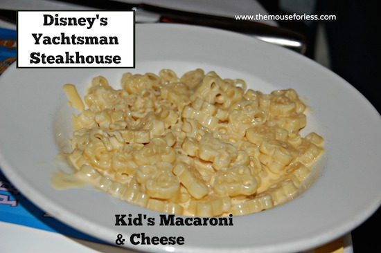 Kids' Macaroni from Yachtsman Steakhouse at Disney's Yacht Club Resort #DisneyDining #YachtClub