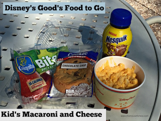 Kids' at Macaroni and Cheese at Good's Food To Go at Old Key West #DisneyDining #OldKeyWest