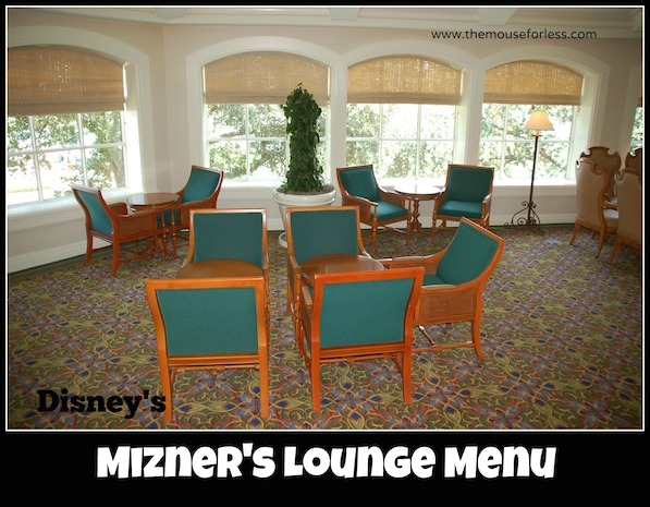 Mizner's Lounge at Disney's Grand Floridian Resort and Spa #DisneyDining #GrandFloridian