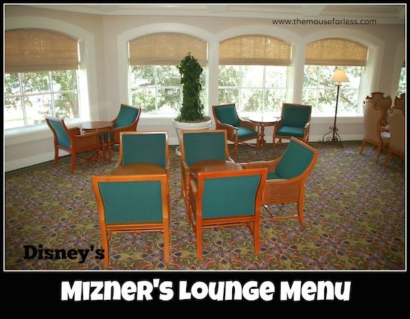 Mizner's Lounge at Disney's Grand Floridian Resort and Spa #DisneyDining #GrandFloridian
