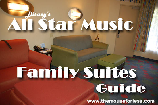 Disney's All-Star Music Resort - Family Suites Resort Guide from themouseforless.com #DisneyWorld #Vacation