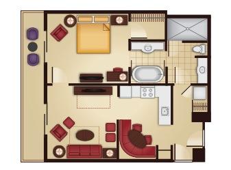 1 Bedroom Floor Plan Disney S Grand Floridian Villas