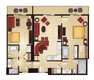 2-Bedroom Lock-off Floor Plan
