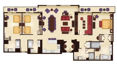 3-Bedroom Grand Villa Floor Plan
