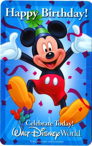 Disney birthday card