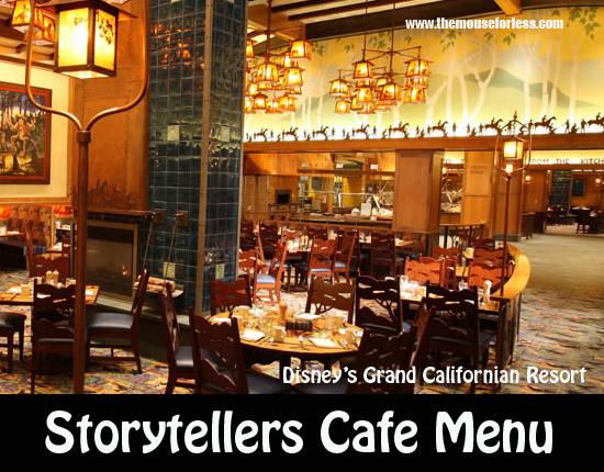 Storytellers Café Menu