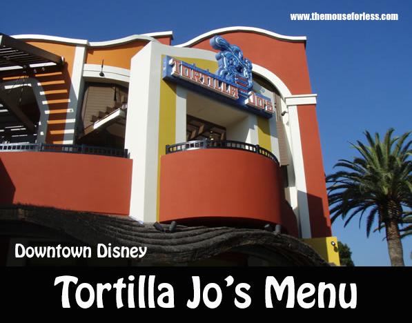 Tortilla Jo's Menu