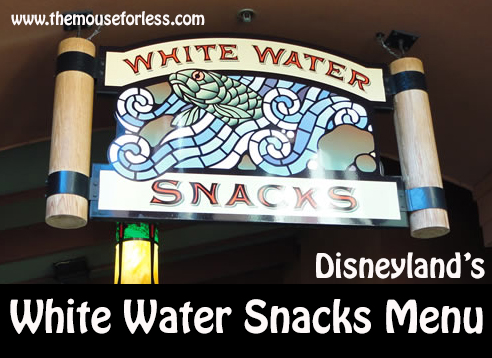 White Water Snacks Menu