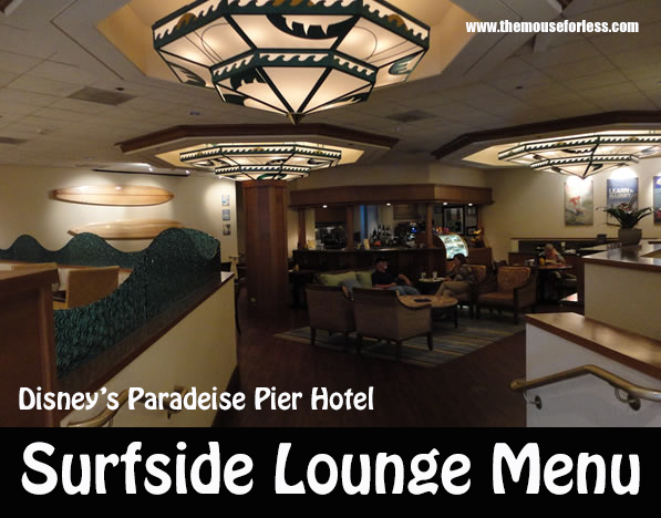 Surfside Lounge Menu