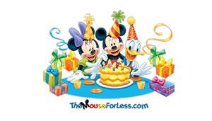 Birthday Mickey Luggage Tag Back