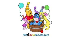 Birthday Pooh Luggage Tag Back