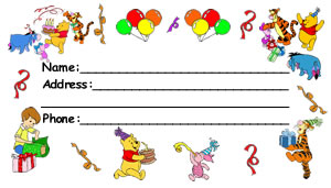 Birthday Pooh Luggage Tag
