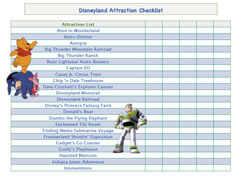 Disneyland checklist for boys