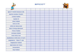 Epcot checklist for boys