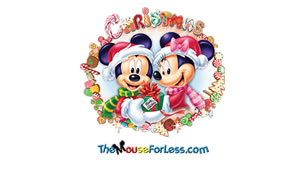 Christmas Mickey Luggage Tag Back
