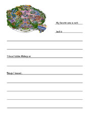 Disneyland Journal Page