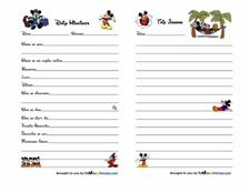 Mickey Mouse Trip Journal 2