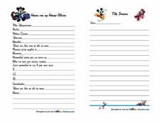 Mickey Mouse Trip Journal 3