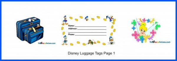 Disney Luggage Tags - Page 1
